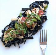 Stella Squid ink pasta with Crab