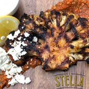 Stella Grilled Cauliflower steak and Romesco sauce