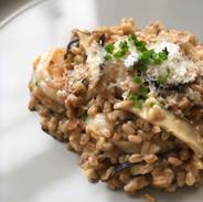 stella shrimp and scallop with Farro risotto