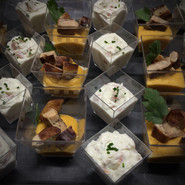 Verrine mousse patate douce foie gras