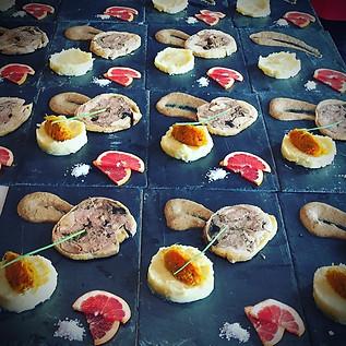 Galantine au foie gras crème de cèpe