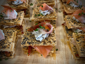 Mille-feuille saumon Gravlax