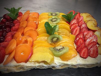 Tarte aux fruits de saison frais
