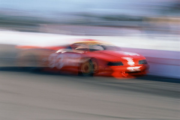Blurred Motion Racing Car