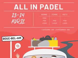 PADEL INFINITY TOUR CHOISIT ALL IN PADEL SPORTS