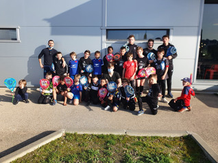 All In Padel Sports accueille les jeunes du club Provence-Rugby