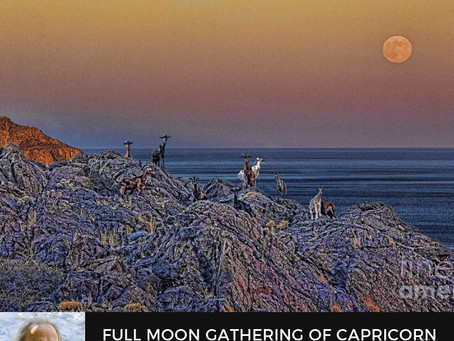 Strawberry Full Moon in 3° tropical Capricorn