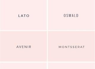 Design Tools - Sans-Serif Fonts