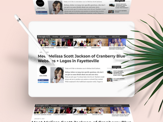 Meet Melissa Scott Jackson of Cranberry Blue Websites + Logos in Fayetteville