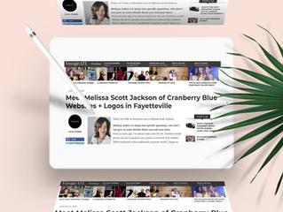 Meet Melissa Scott Jackson of Cranberry Blue Websites + Logos in Fayetteville