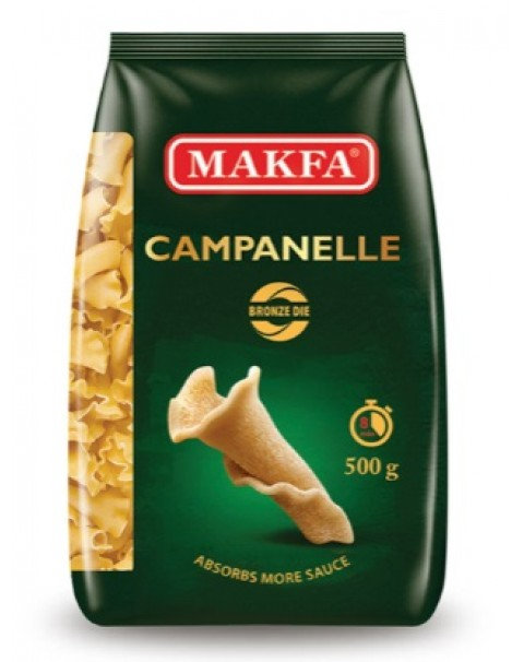 "Pasta, Bronze ""Campanelle"", Makfa - 500g"