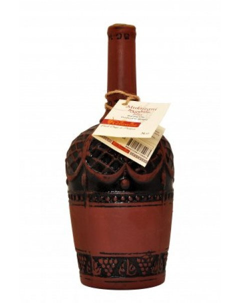 "Wine Red Dry ""Mukuzani "" In Clay Bottle 11.5% Alc. 0.75L/ Красное Сухое Вино ""Му"