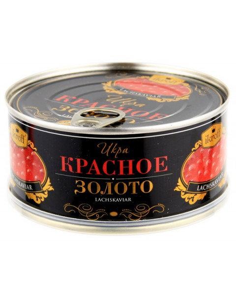 "Caviar, Salmon, Red ""Krasnoye Zoloto"", Ikroff - 300g Икра Красная ""Красное Золот"