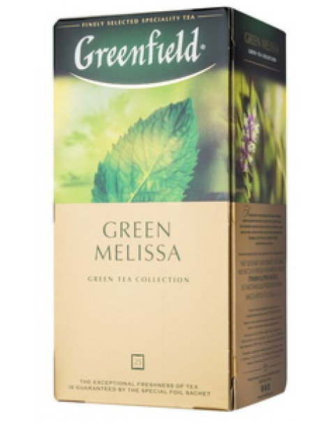 "Green Tea With Balm And Mint ""Green Melissa"", Greenfield (25x1.5g) /Зеленый Чай"