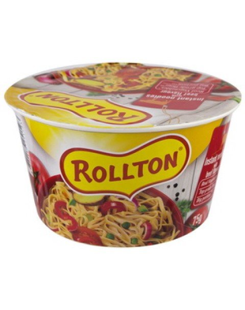 "Pasta, Luxury Noodle With Beef Flavour ""Rollton"" 75g (SOB)"