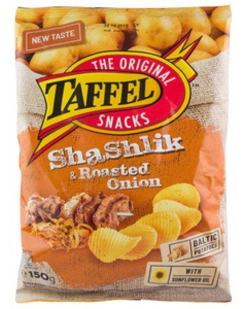 Crisps With Shashlyk And Roasted Onions, Taffel -150g