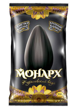 Монарх Семечки подсолнечные жаренные чёрные XXL 350g