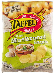 Crisps With Creamy Mushroom Sauce, Taffel -150g