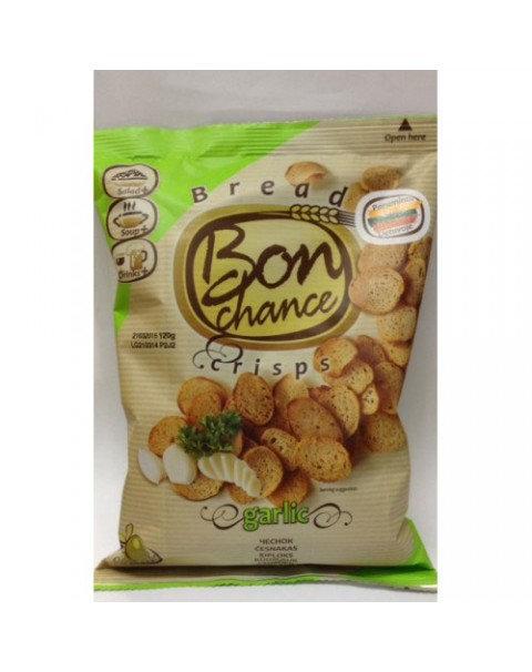Bon Chance - Crisps -Хлебные Чипсы С Чесноком 120г