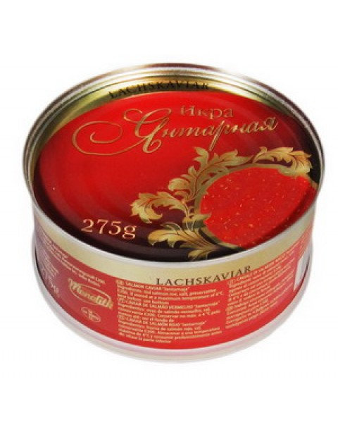 "Caviar, Salmon, Red ""Yantarnaya"", Ikroff -275g Икра Красная ""Янтарная"" 275g."