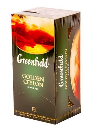 """Черный Цейлонский Чай """"Golden Ceylon"""" В Пакетиках В Индивидуальной Упаковке, 25х"""