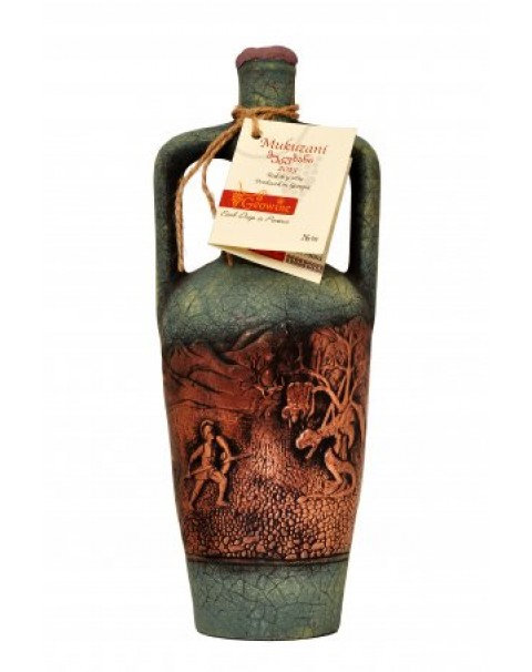 "Wine Red Dry ""Mukuzani "" In Clay Bottle11.5% Alc. 0.75L/Красное Сухое Вино ""Muku"