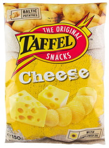 Crisps With Cheese, Taffel -150g