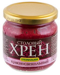 """Steinhauer - Horseradish """"Krasno-Svekolniy""""-200g / Хрен красно-свекольный 20"""