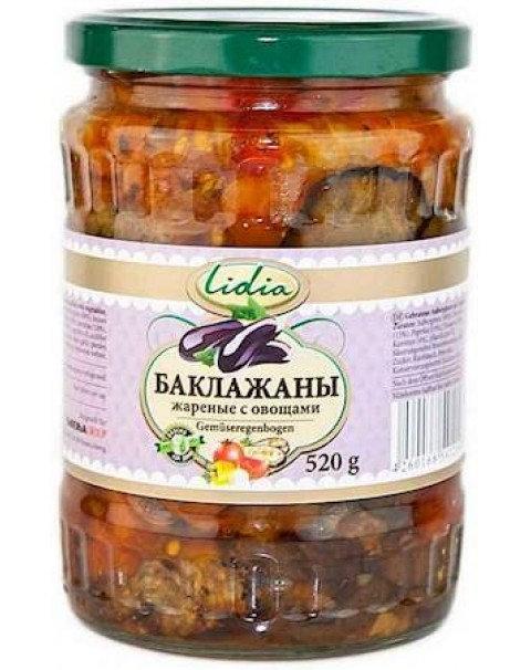 LIDIA Салат Баклажаны Жареные С Овощами 520g
