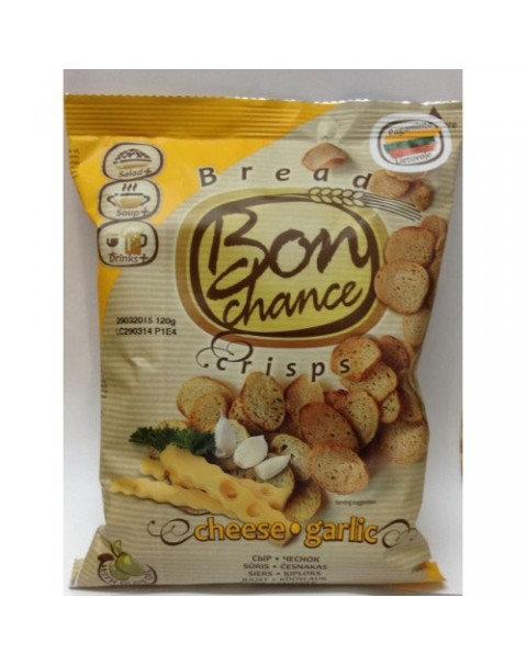 Bon Chance - Crisps -Хлебные Чипсы С Сыром И Чесноком 120г