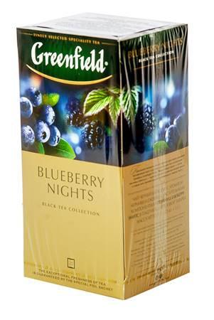 """Чай """"Greenfield"""" 25Stx1,5g Черника черная ночь"""