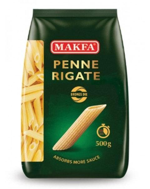 """Pasta, Bronze """"Penne Rigate"""", Makfa - 500g"""