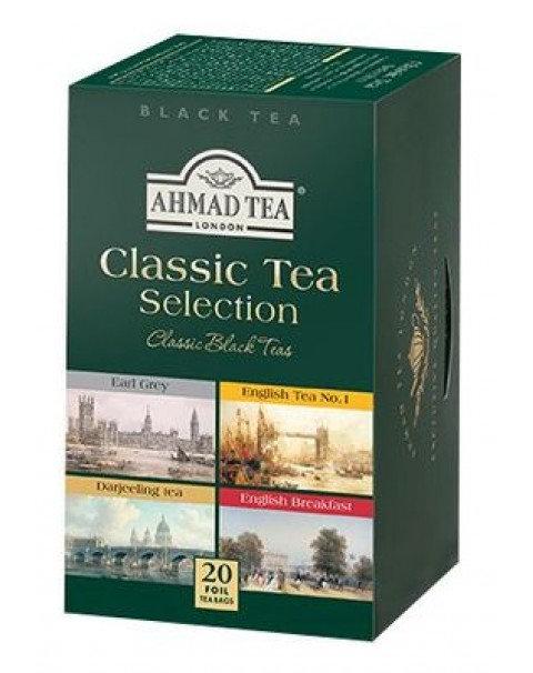 Чай AHMAD TEA Чёрный Классический Набор ((4сорта/5шт) 20 Пакетиков
