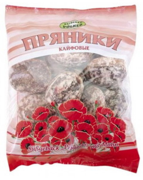 "Gingerbread ""Kayfovie"" With Poppy Seeds/Пряники С Маком ""Кайфовые"" 400g"
