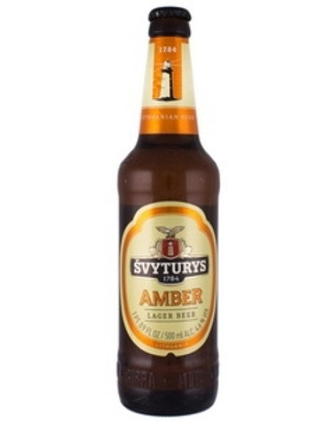 "BEER ""SVYTURYS AMBER / GINTARINIS"" 4.7% ALC.0.5L"