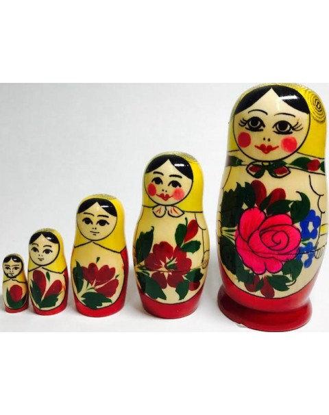 """Матрёшка """"Семеновская"""" 5-Ти Кукольная В-10см"""
