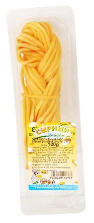 Сырный мир -  Сыр Косичка копченый  - 27%жирности - 120г