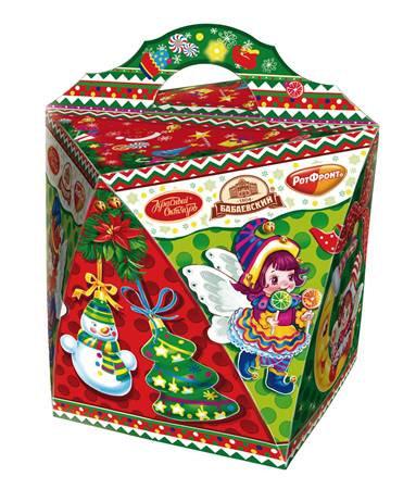Новогодний подарок конфеты -  Фонарик -  (коробка 250g)