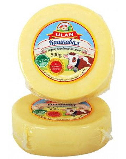 Сыр Кашкавал Из Коров.молока 47% Жирности - 500g
