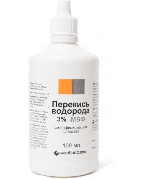 Перекись Водорода 3% - МБФ Средство Дезинфицирующее Флакон 100мл N1x1 Марбиофарм