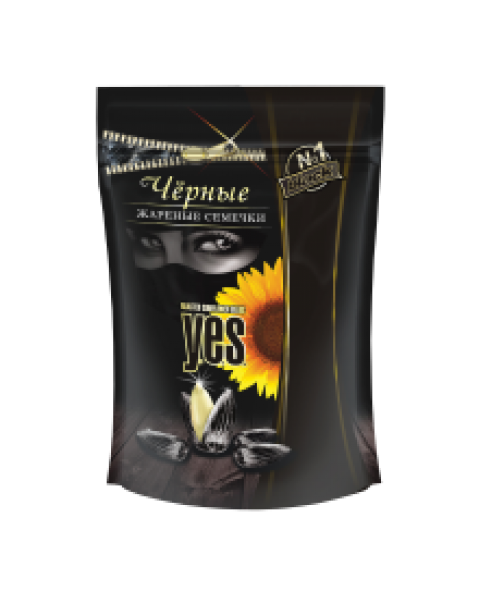 """YES"" Black Sunflower Seeds, Roasted / Жаренные Черные Семечки 300g"