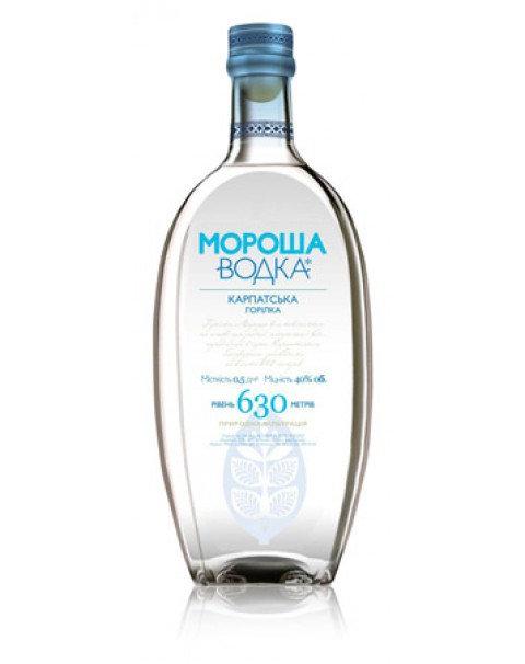 Водка Мороша Карпатская Blue 0,5L Vodka Morosha Carpathian Blue 0,5L 40%