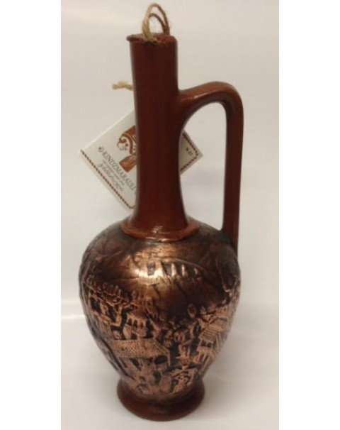 "Wine Red Semi Sweet ""Kindzmarauli"" In Clay Bottle - 11.5% Alc. 0.75L"