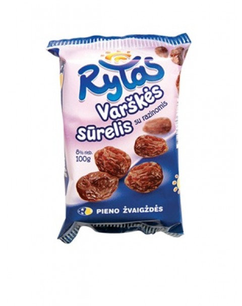 """Rytas"" Curd Cheese With Raisin 100g"