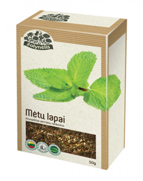Травяной Чай - Листья Мяты 50г / Žolelių Arbata ŽOLYNĖLIS (MĖTŲ LAPAI), 50 G