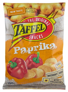 Crisps With Paprika, Taffel - 150g