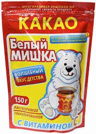 """Какао-напиток гранулированный """"Белый мишка"""", 150 г"""