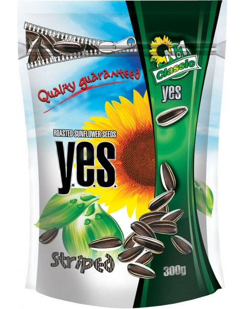 Y.E.S. Sunflower Seeds, Striped Clouds, 300g
