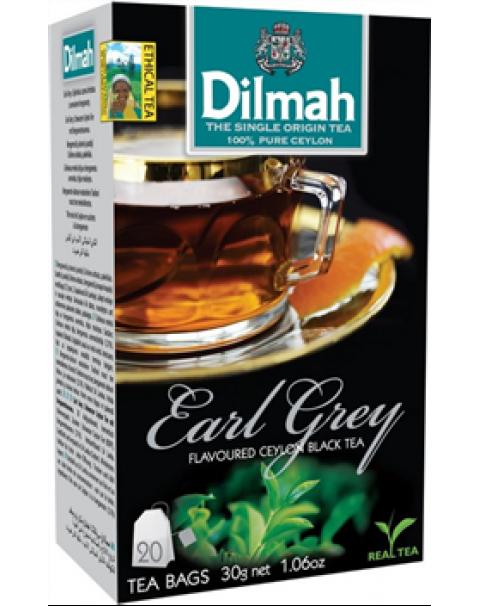 Чёрный Чай DILMAH EARL GREY 30г / Juodoji Arbata DILMAH EARL GREY, 20 Vnt. 30g