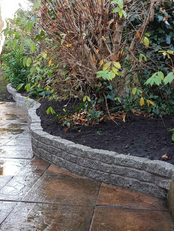 Granite sett wall - Bournemouth